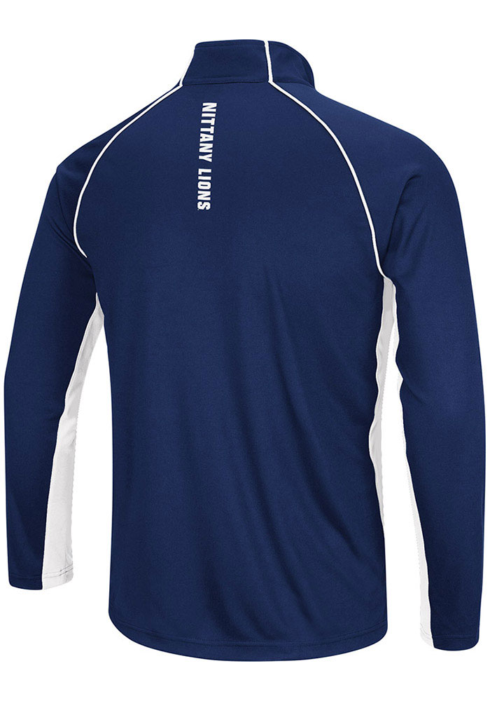 Colosseum Penn State Nittany Lions Mens Navy Blue Airstream Big and Tall 1/4 Zip Pullover - Image 2