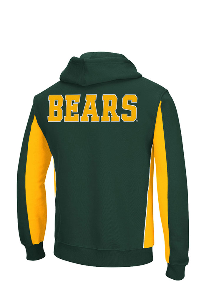 Colosseum Baylor Bears Mens Green Thriller II Big and Tall Hooded Sweatshirt - Image 2