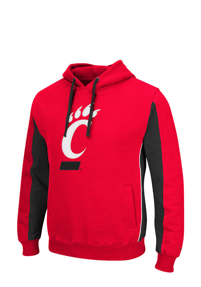 Colosseum Cincinnati Bearcats Mens Red Thriller II Big and Tall Hooded Sweatshirt - Image 1