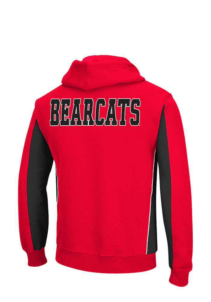 Colosseum Cincinnati Bearcats Mens Red Thriller II Big and Tall Hooded Sweatshirt - Image 2