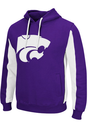 Colosseum K-State Wildcats Mens Purple Thriller II Hooded Sweatshirt