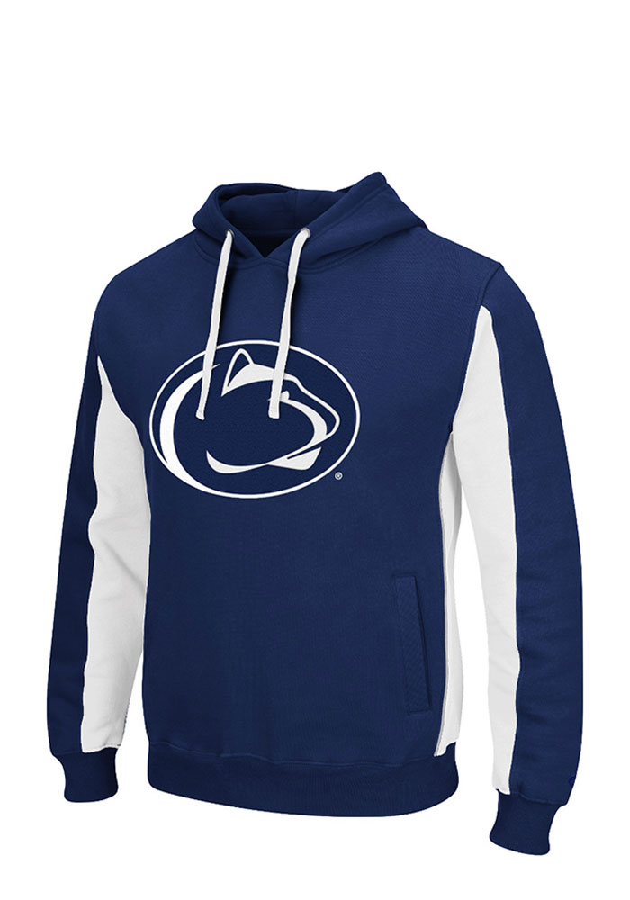 Colosseum Penn State Nittany Lions Mens Navy Blue Thriller Big and Tall Hooded Sweatshirt - Image 1