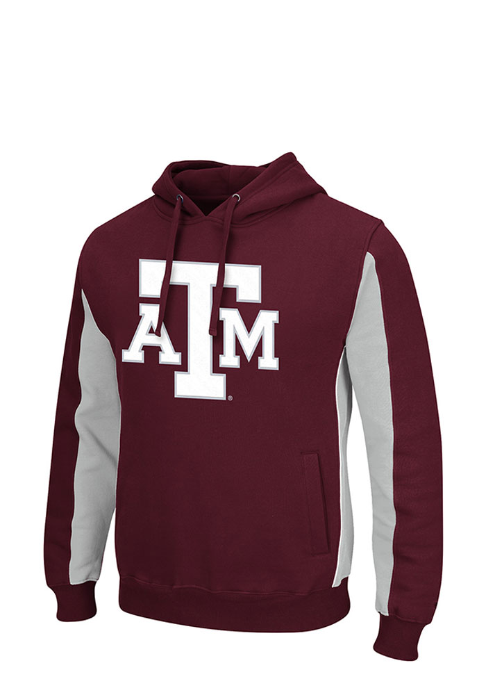Colosseum Texas A&M Aggies Mens Maroon Thriller II Big and Tall Hooded Sweatshirt - Image 1