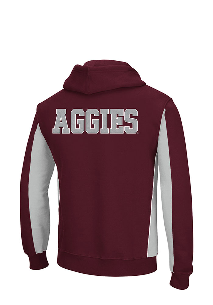 Colosseum Texas A&M Aggies Mens Maroon Thriller II Big and Tall Hooded Sweatshirt - Image 2