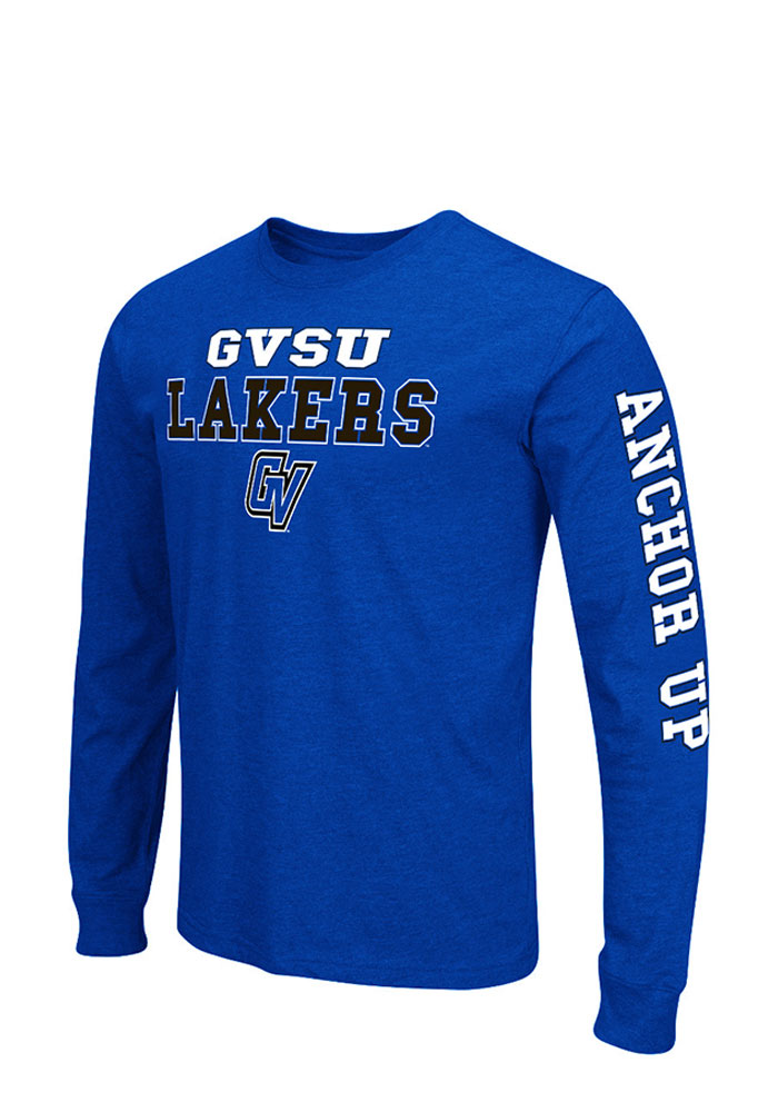 Colosseum Grand Valley State Lakers Mens Blue Game Changer Big and Tall Long Sleeve T-Shirt - Image 1