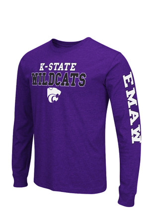 Colosseum K-State Wildcats Mens Purple Game Changer Long Sleeve T-Shirt
