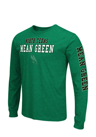 Colosseum UNT Mens Green Game Changer Long Sleeve T-Shirt