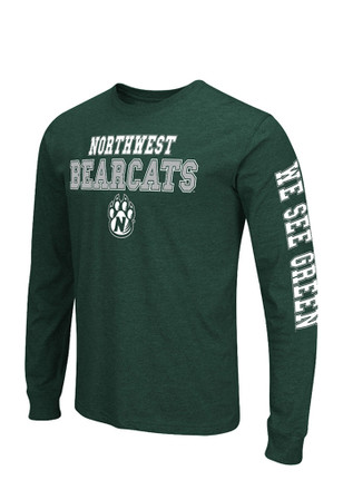 Colosseum Northwest Mo State Bearcats Mens Green Long Sleeve T-Shirt