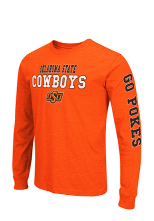 Colosseum Oklahoma State Cowboys Mens Orange Game Changer Long Sleeve T-Shirt