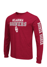 Colosseum Oklahoma Mens Red Game Changer Long Sleeve T-Shirt