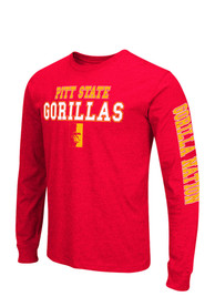 Colosseum Pitt State Gorillas Red Game Changer Long Sleeve T-Shirt