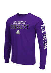 Colosseum Horned Frogs Mens Purple Game Changer Long Sleeve T-Shirt
