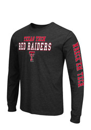Colosseum Texas Tech Mens Red Game Changer Long Sleeve T-Shirt
