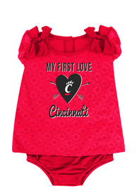 Colosseum Cincinnati Bearcats Baby Red My First Love One Piece