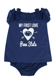 Colosseum Penn State Nittany Lions Baby Navy Blue My First Love One Piece