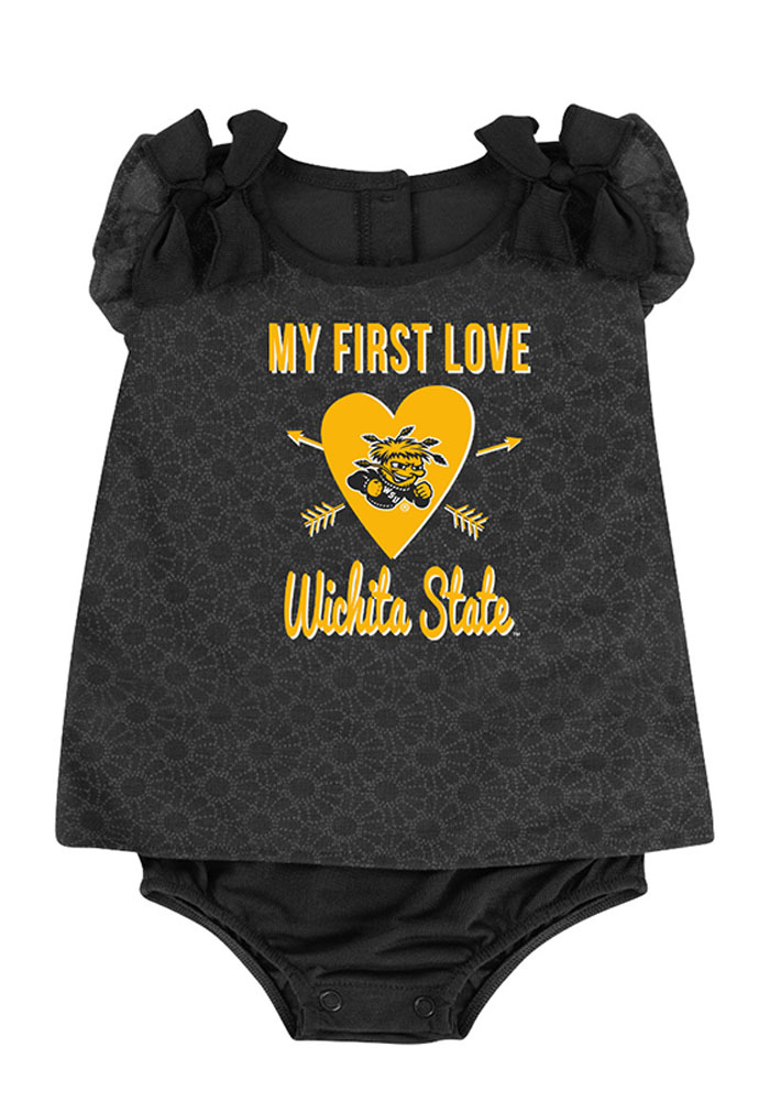 Colosseum Wichita State Shockers Baby Gold My First Love Short Sleeve One Piece - Image 1