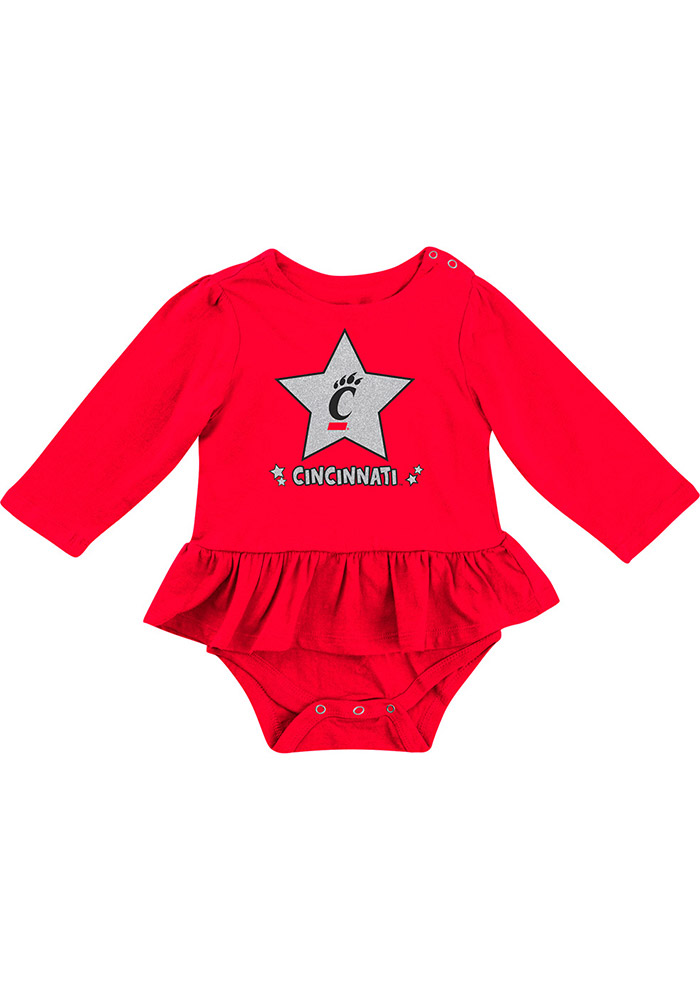 Colosseum Cincinnati Bearcats Baby Red Day Dreamer Short Sleeve One Piece - Image 1