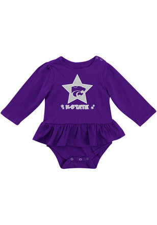 Colosseum K-State Wildcats Baby Purple Day Dreamer Creeper