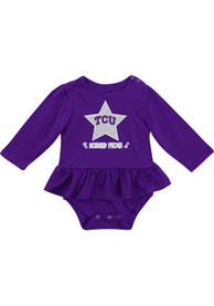 Colosseum TCU Horned Frogs Baby Purple Day Dreamer One Piece