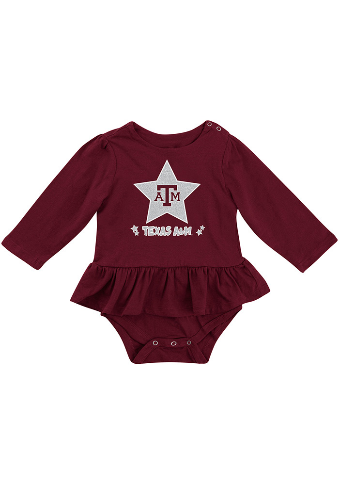Colosseum Texas A&M Aggies Baby Maroon Day Dreamer Short Sleeve One Piece - Image 1