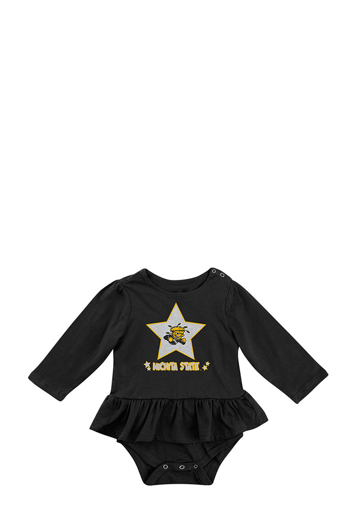 Colosseum Wichita State Shockers Baby Gold Day Dreamer Short Sleeve Creeper - Image 1