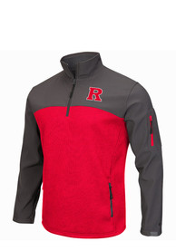 Rutgers Scarlet Knights Colosseum Plow IV 1/4 Zip Pullover - Red