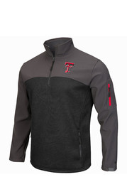 Colosseum Texas Tech Mens Black Plow IV 1/4 Zip Performance Pullover