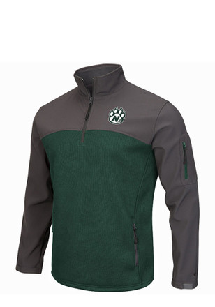 Colosseum Northwest Missouri State Bearcats Mens Green Plow IV 1/4 Zip Pullover