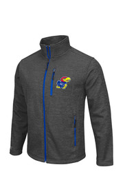 Colosseum KU Jayhawks Mens Grey Backfield II Light Weight Jacket
