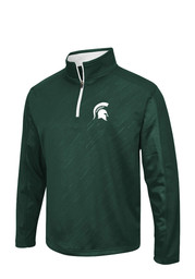 Michigan State Spartans Colosseum Sleet Embossed 1/4 Zip Pullover - Green