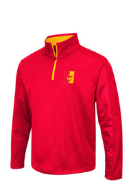 Pitt State Gorillas Colosseum Sleet Embossed 1/4 Zip Pullover - Red