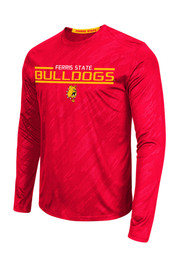 Colosseum Dogs Mens Red Sleet Embossed Performance Tee