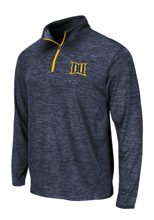 Colosseum Drexel Dragons Mens Navy Blue Action Pass 1/4 Zip Pullover