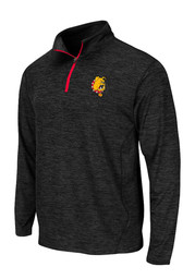 Colosseum Dogs Mens Black Action Pass 1/4 Zip Performance Pullover