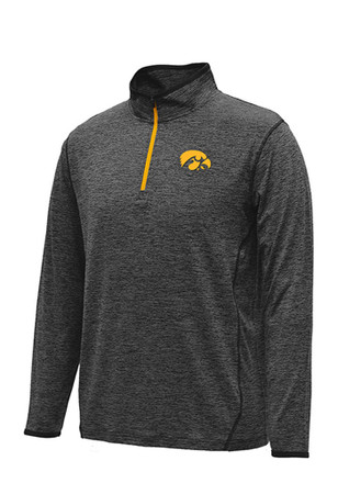 Colosseum Iowa Hawkeyes Mens Black Action Pass 1/4 Zip Pullover