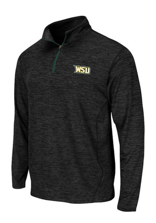 Colosseum Wright State Raiders Mens Black Action Pass 1/4 Zip Pullover