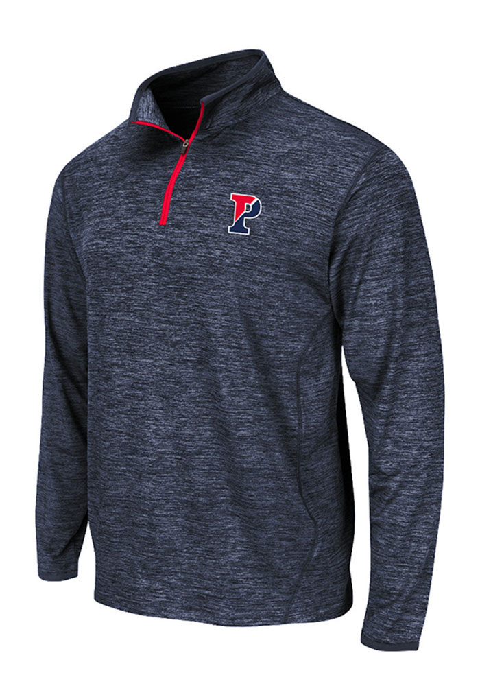 Colosseum Pennsylvania Quakers Mens Black Action Pass Long Sleeve 1/4 Zip Pullover - Image 1