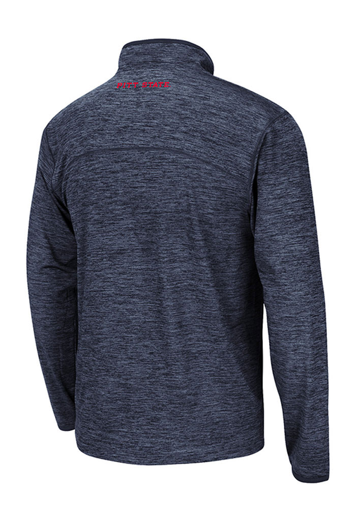 Colosseum Pennsylvania Quakers Mens Black Action Pass Long Sleeve 1/4 Zip Pullover - Image 2