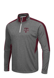 Colosseum Texas A&M Mens Grey atlas 1/4 Zip Performance Pullover