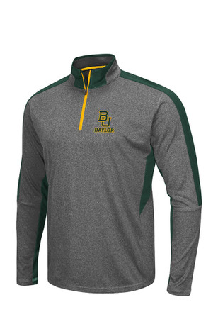 Colosseum Baylor Mens Grey atlas 1/4 Zip Performance Pullover