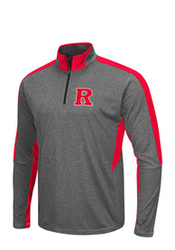 Rutgers Scarlet Knights Colosseum atlas 1/4 Zip Pullover - Charcoal
