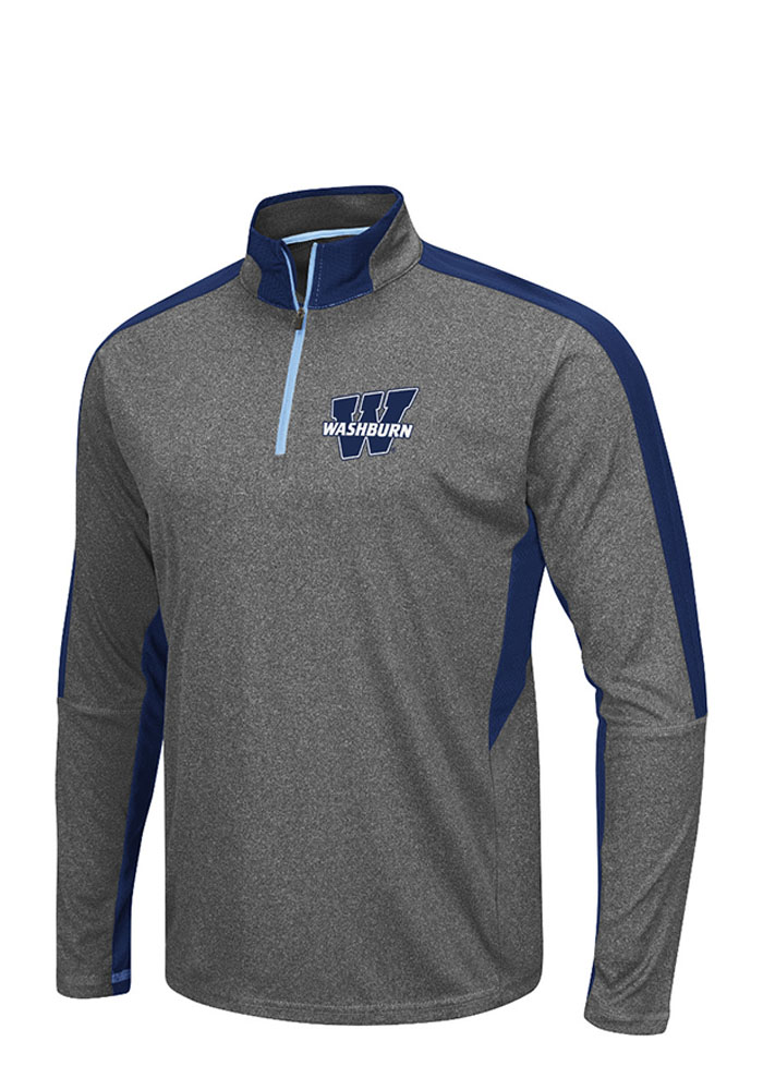Colosseum Washburn Ichabods Mens Grey atlas Long Sleeve 1/4 Zip Pullover - Image 1