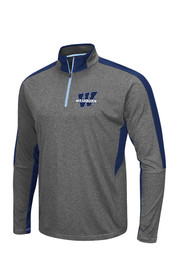 Colosseum Washburn Mens Grey atlas 1/4 Zip Performance Pullover