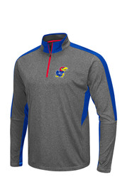 Colosseum KU Jayhawks Mens Grey Raven Performance Tee