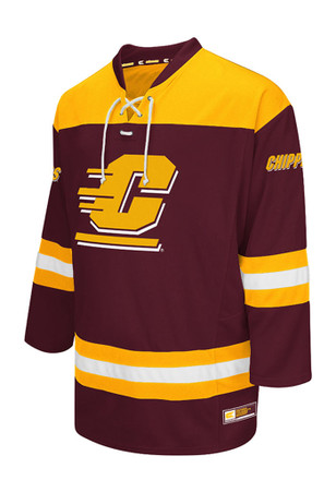 Central Michigan Chippewas Mens Maroon Open Net Jersey
