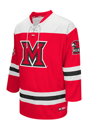 Miami Redhawks Mens Red Open Net Jersey