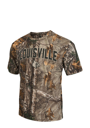 Colosseum Louisville Cardinals Mens Green Brow Tine Tee