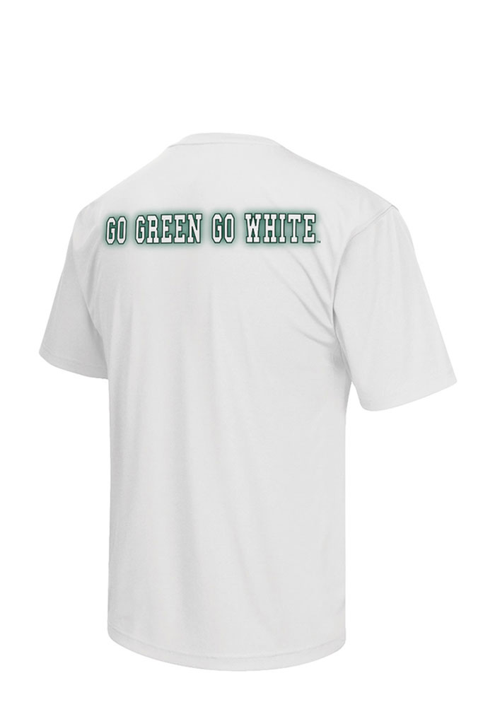 Colosseum Michigan State Spartans Mens White Big Haze Big and Tall T-Shirt - Image 2