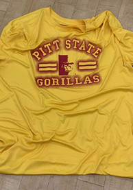 Colosseum Pitt State Gorillas Gold Big Haze T-Shirt