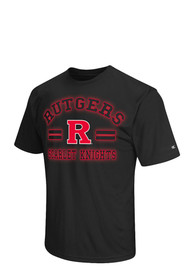 Colosseum Rutgers Scarlet Knights Black Big Haze T-Shirt